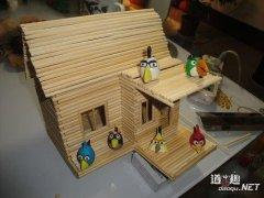 创意DIY:一次性筷子手工制作小木屋